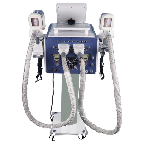 Аппарат криолиполиз mini (2 ручки)+ липолазер + кавитация +вакуум+RF 4